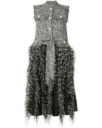 Huishan Zhang - Tweed Fringed Sleeveless Coat - Lyst