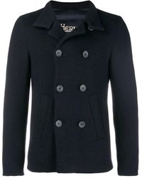 Herno - Padded Cropped Peacoat - Lyst