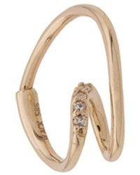 Maria Black 14kt Yellow Gold Acrobat Diamond Hoop Earring