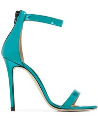 Marc Ellis - Metallic Ankle Strap Sandals - Lyst