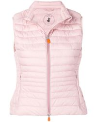 Save The Duck - Quilted Fitted Gilet - Lyst