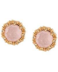 Stephen Webster - 18kt Rose Gold, Opal And Diamond Stud Earrings - Lyst