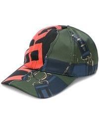 Versus - Mixed Print Baseball Cap - Lyst