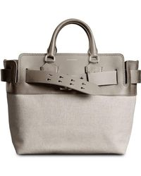 c03be31ed83c Lyst - Burberry The Small Orchard In Embossed Check Leather in White