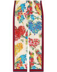 Gucci - Corsage Print Silk Pajama Pant - Lyst