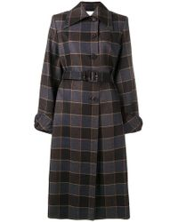 Mulberry - Check Single Breasted Coat - Lyst