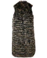 Twin Set - Racoon Fur Gilet - Lyst