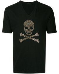 Loveless - Embellished Skull T-shirt - Lyst