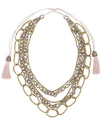 Night Market - Tassel & Chain Necklace - Lyst