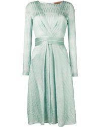 Missoni - Vestido texturizado con motivo en zigzag - Lyst