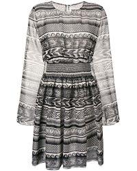Fausto Puglisi - Kleid mit geometrischem Muster - Lyst