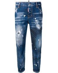 DSquared² - Ausgewaschene Cropped-Jeans - Lyst