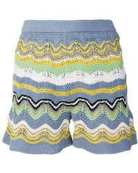 M Missoni - Striped Shorts - Lyst
