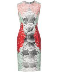 Yigal Azrouël - Coral Printed Scuba Dress - Lyst