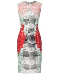 Yigal Azrouël - Coral Printed Scuba Dress - Lyst