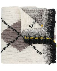 Pringle of Scotland - Hand-knitted Argyle Scarf - Lyst