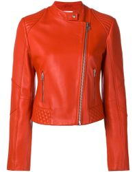 Pinko - Fitted Leather Jacket - Lyst