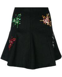 Gaëlle Bonheur - Floral Embellished Mini Skirt - Lyst