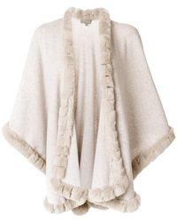 N.Peal Cashmere - Fur Trimmed Cashmere Cape - Lyst