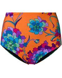 LaDoubleJ - Bas de maillot à fleurs - Lyst