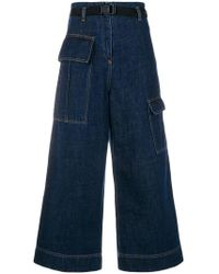 KENZO - Cropped wide-legged Jeans - Lyst