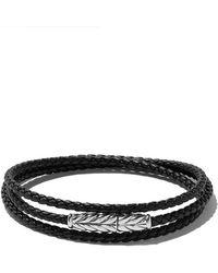David Yurman - Chevron Triple-wrap Bracelet - Lyst