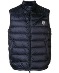 9f7f97034245 Lyst - Moncler Padded Gilet in Red for Men
