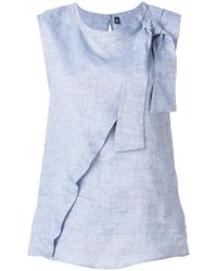 Eleventy - Bow-tied Sleeveless Top - Lyst