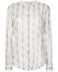 Saint Laurent - Abstract Patterned Shirt - Lyst