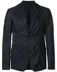 Prada - Nylon Single Breasted Blazer - Lyst