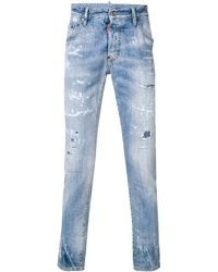 DSquared² - 'Skater' Distressed-Jeans - Lyst