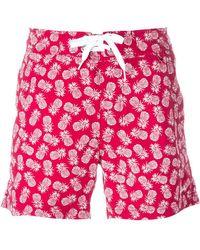 Woolrich - Pineapple Print Swim Shorts - Lyst