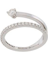 Delfina Delettrez - 18kt White Gold Marry Me Diamond Ring - Lyst