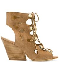 Strategia - Open-toe Lace-up Sandals - Lyst