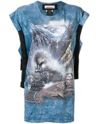 Night Market - Landscape Print T-shirt - Lyst