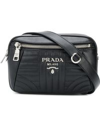 f558db7f720d Prada Bevelled Camera Bag in Black - Save 14% - Lyst