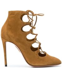 Aquazzura - Flirt Laced Boots - Lyst