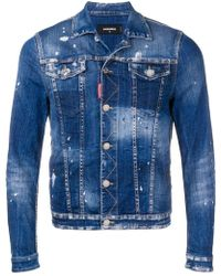 DSquared² - Heavily Distressed Jean Jacket - Lyst