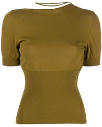 Jacquemus - Cropped Neck Strap Top - Lyst