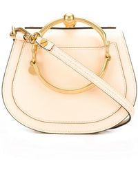 ad356217ece1 Lyst - Chloé Nile Bracelet Shoulder Bag in Blue