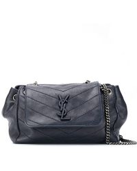 Lyst - Saint Laurent  monogram  Shoulder Bag in Blue 5573439ad32e6