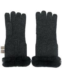 N.Peal Cashmere - Cashmere Fur Trim Gloves - Lyst