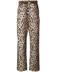 9efed6cae019 R13 Leopard Printed Cropped Trousers for Men - Lyst