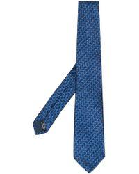 Lanvin - Geometric Pattern Tie - Lyst