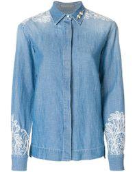 Ermanno Scervino - Embellished Denim Shirt - Lyst