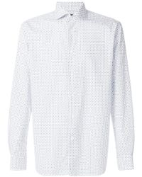 Corneliani - Diamond Printed Shirt - Lyst