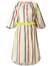 Tsumori Chisato - Striped Button Dress - Lyst