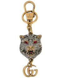 Gucci crystal embellished heart keychain - Black xX8qx