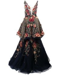Marchesa - Embroidered Appliqué Gown - Lyst
