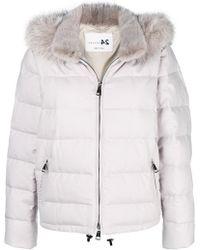 Manzoni 24 - Fur-collar Padded Jacket - Lyst